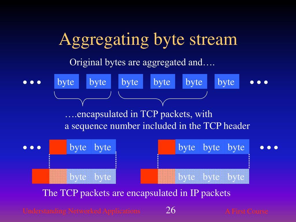 Aggregating byte stream