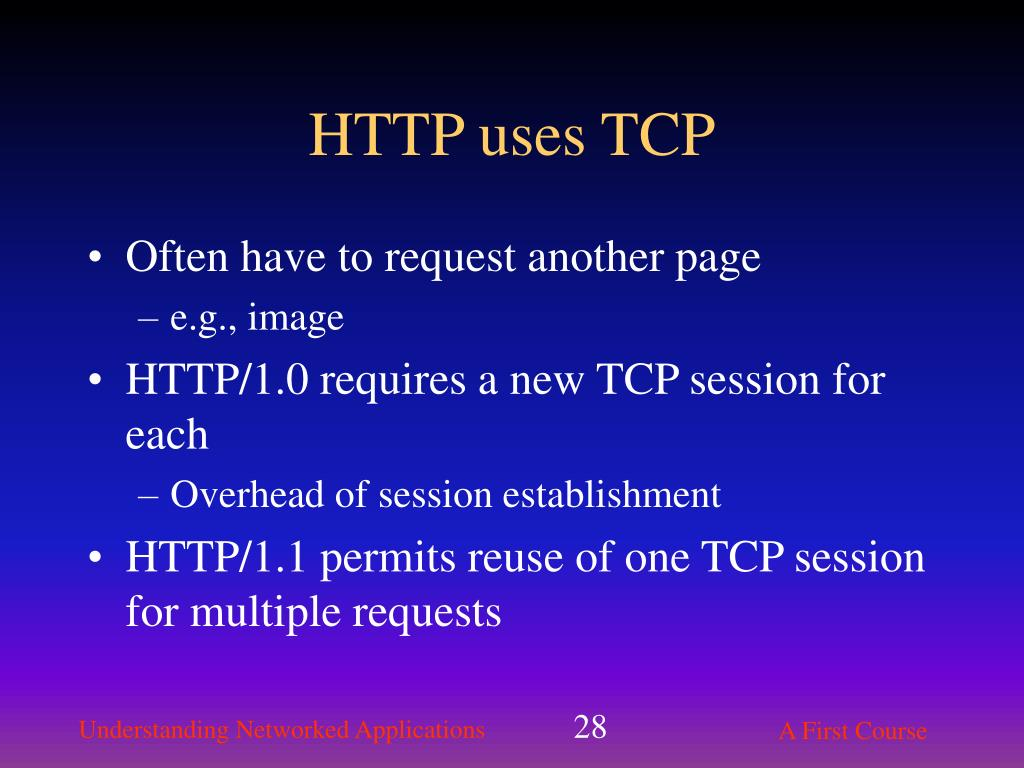 HTTP uses TCP