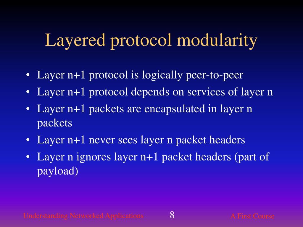 Layered protocol modularity