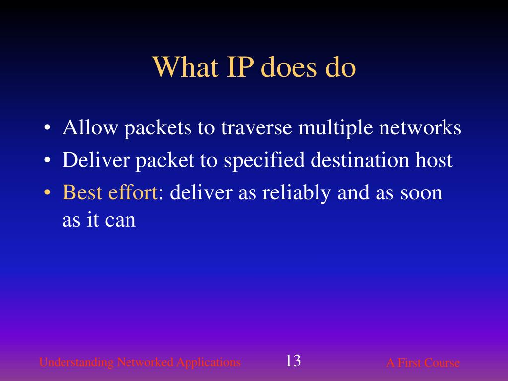 What IP does do