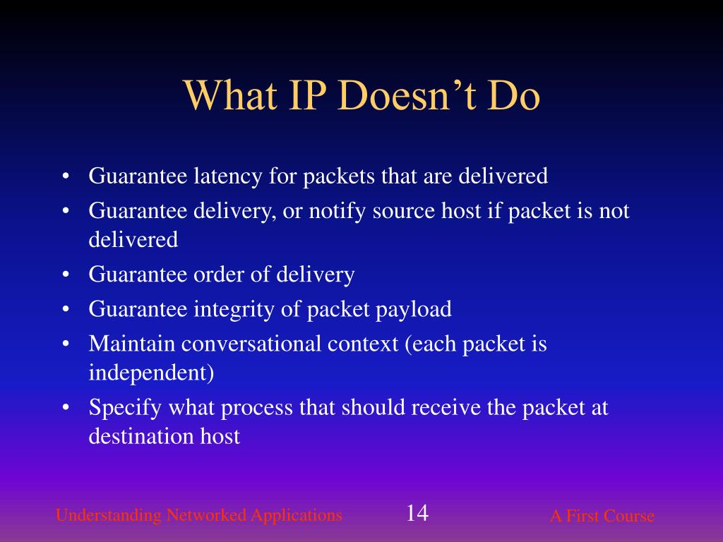 Guarantee latency for packets that are delivered