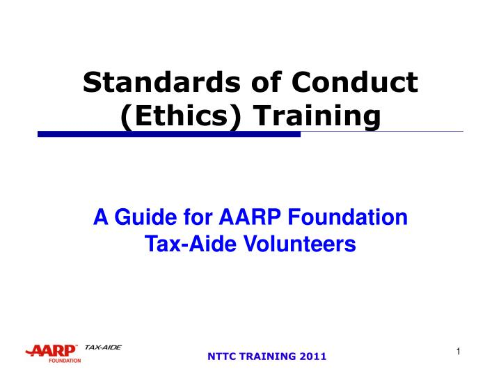 Standards of conduct ethics training