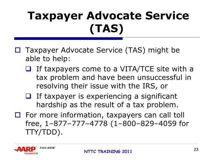 Taxpayer Advocate Service (TAS)
