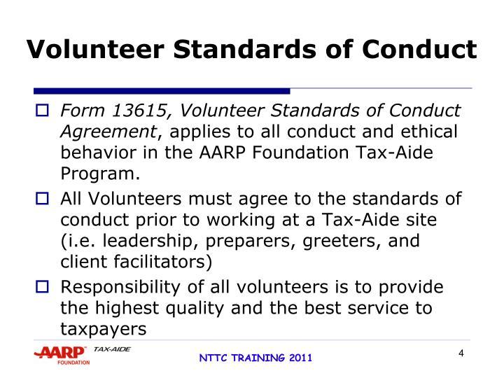 Volunteer Standards of Conduct