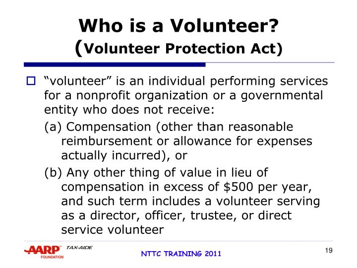 Who is a Volunteer?