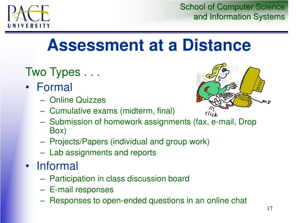 Assessment at a Distance