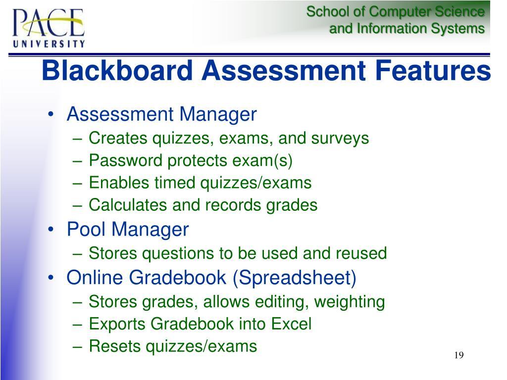 Blackboard Assessment Features
