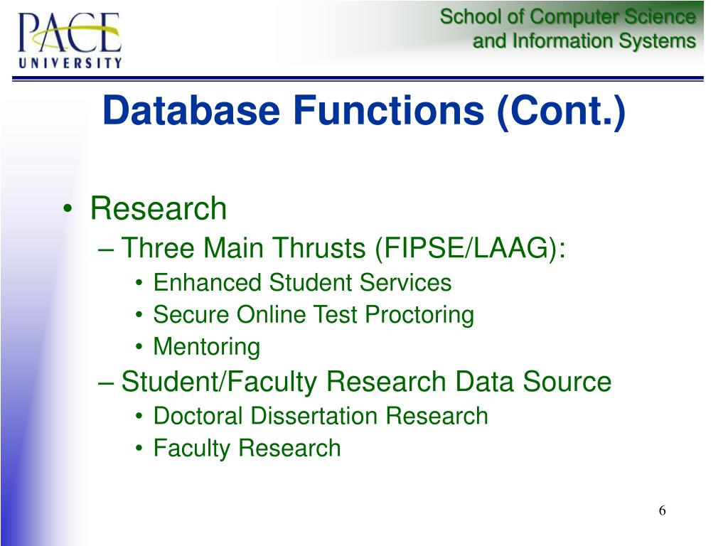 Database Functions (Cont.)