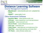 distance learning software