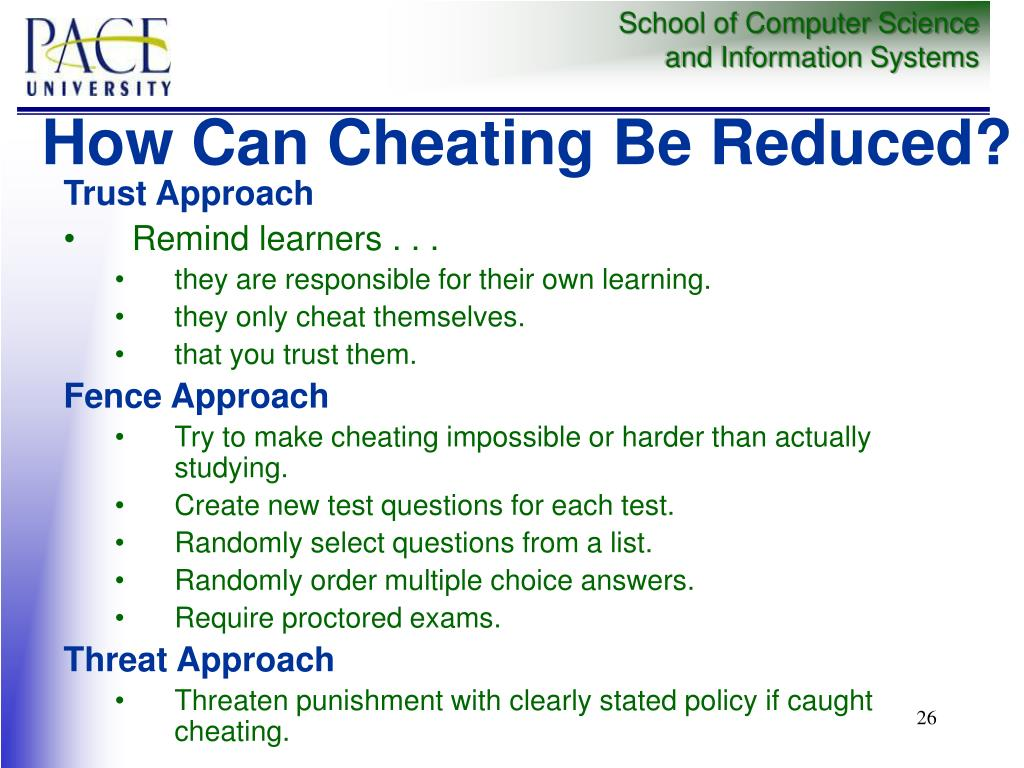 How Can Cheating Be Reduced?