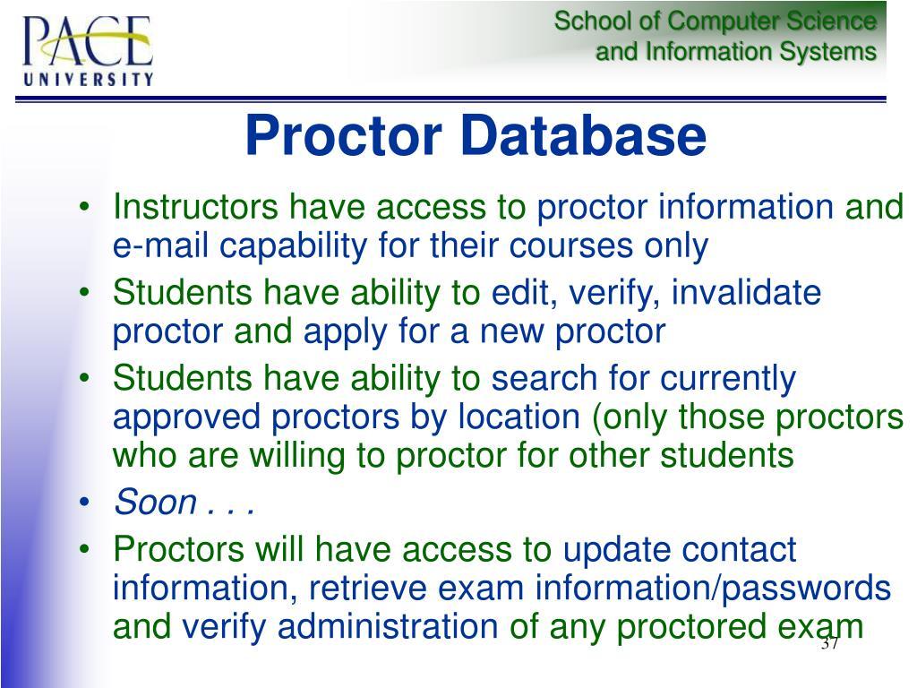 Proctor Database