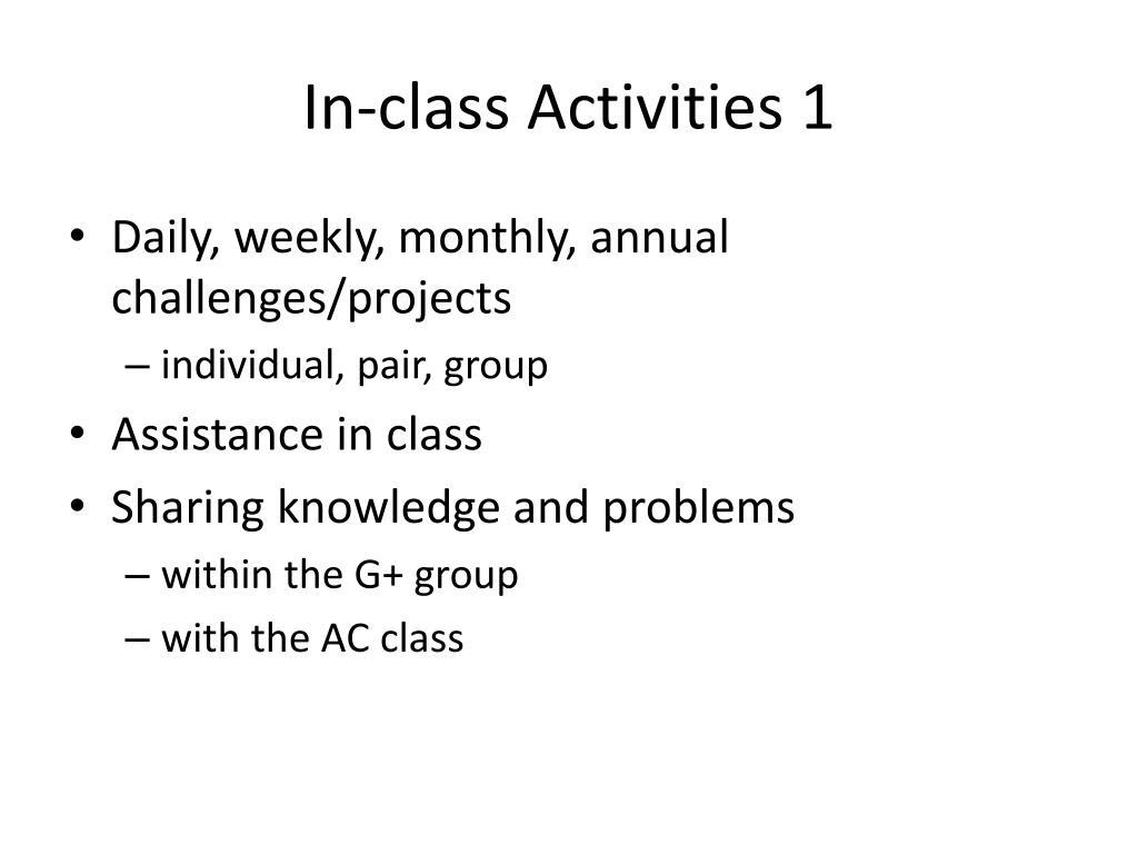 In-class Activities 1