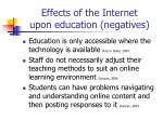 effects of the internet upon education negatives5