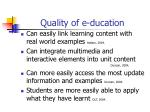 quality of e ducation