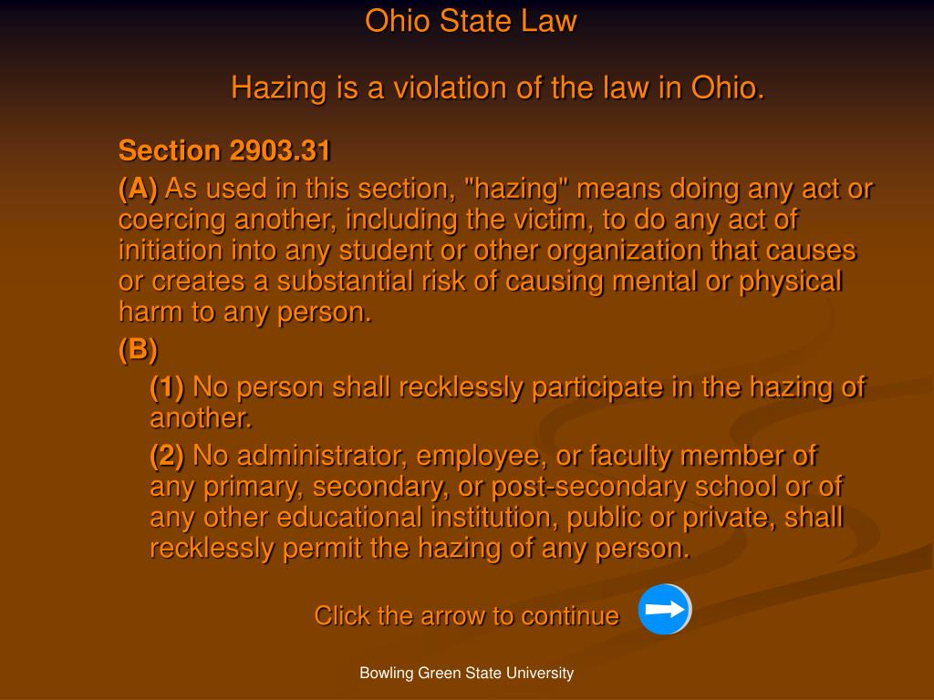 Ohio State Law