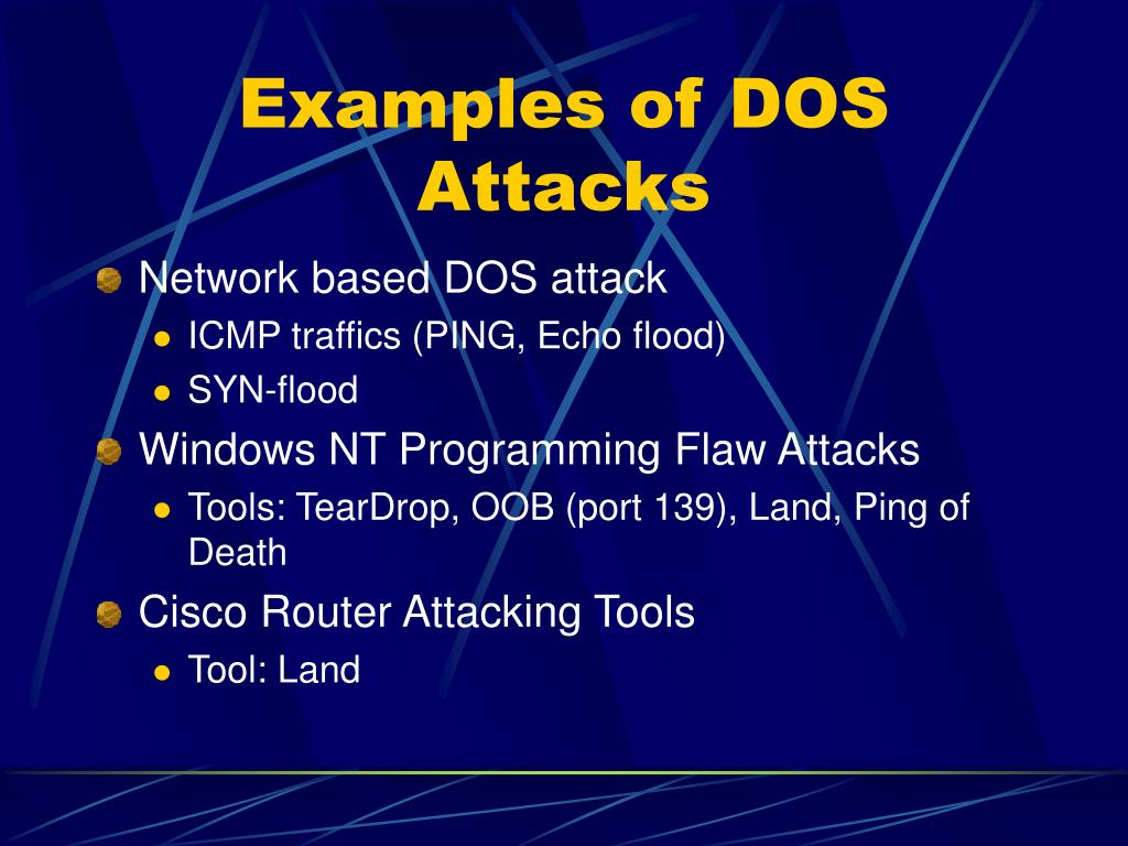 Examples of DOS Attacks
