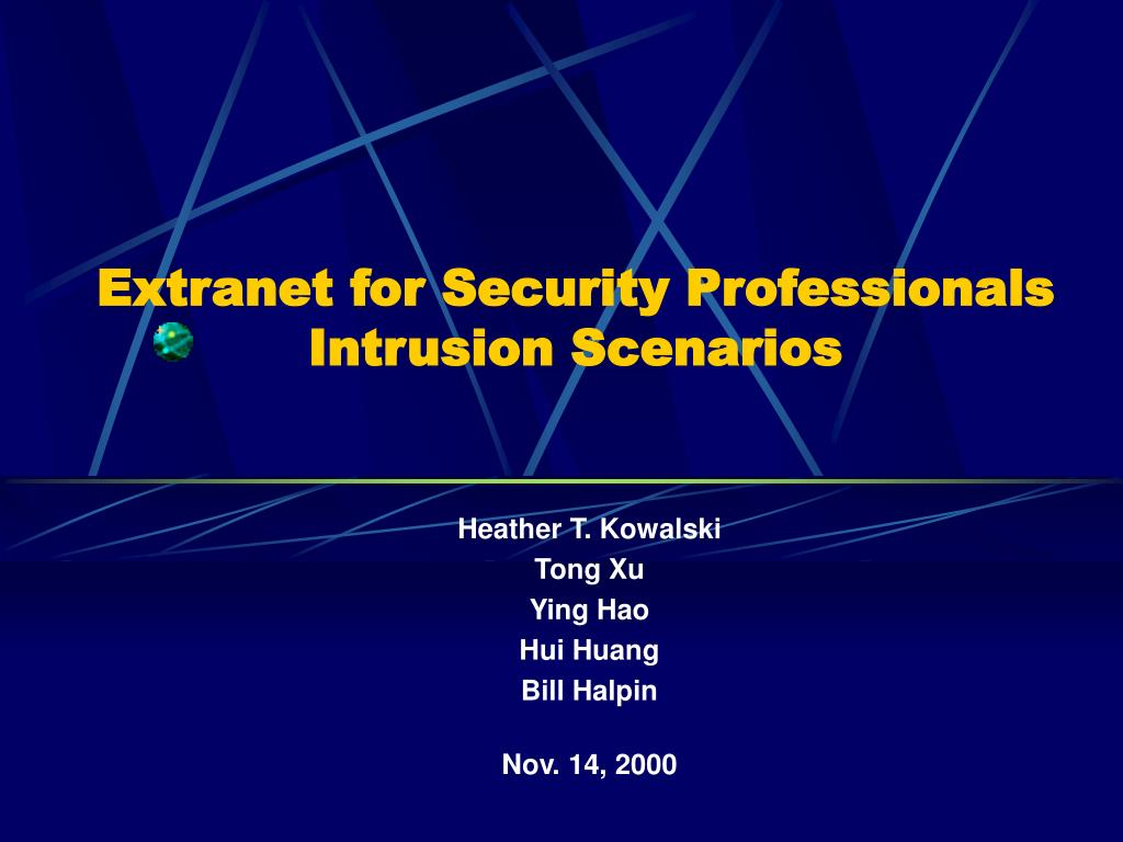 Extranet for Security Professionals