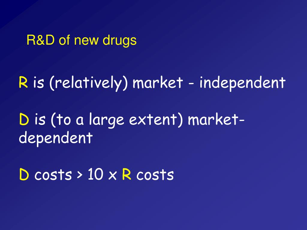 R&D of new drugs