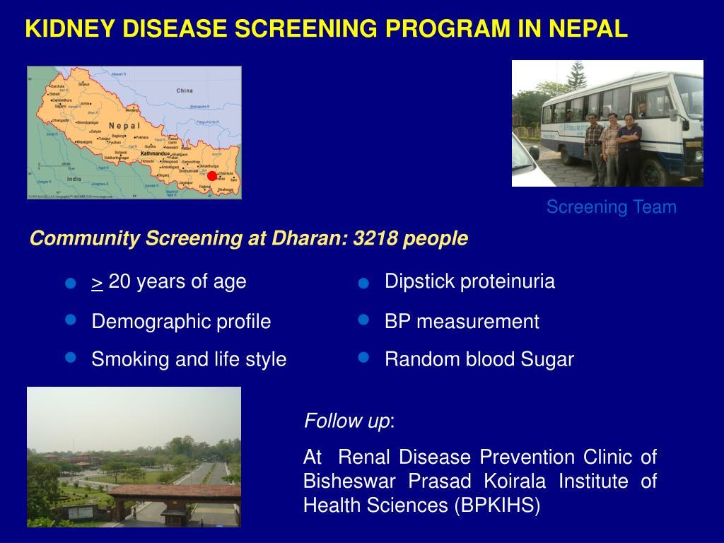 KIDNEY DISEASE SCREENING PROGRAM IN NEPAL