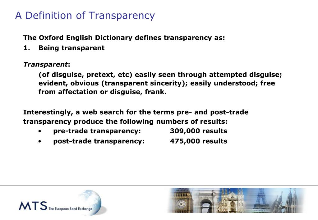 A Definition of Transparency