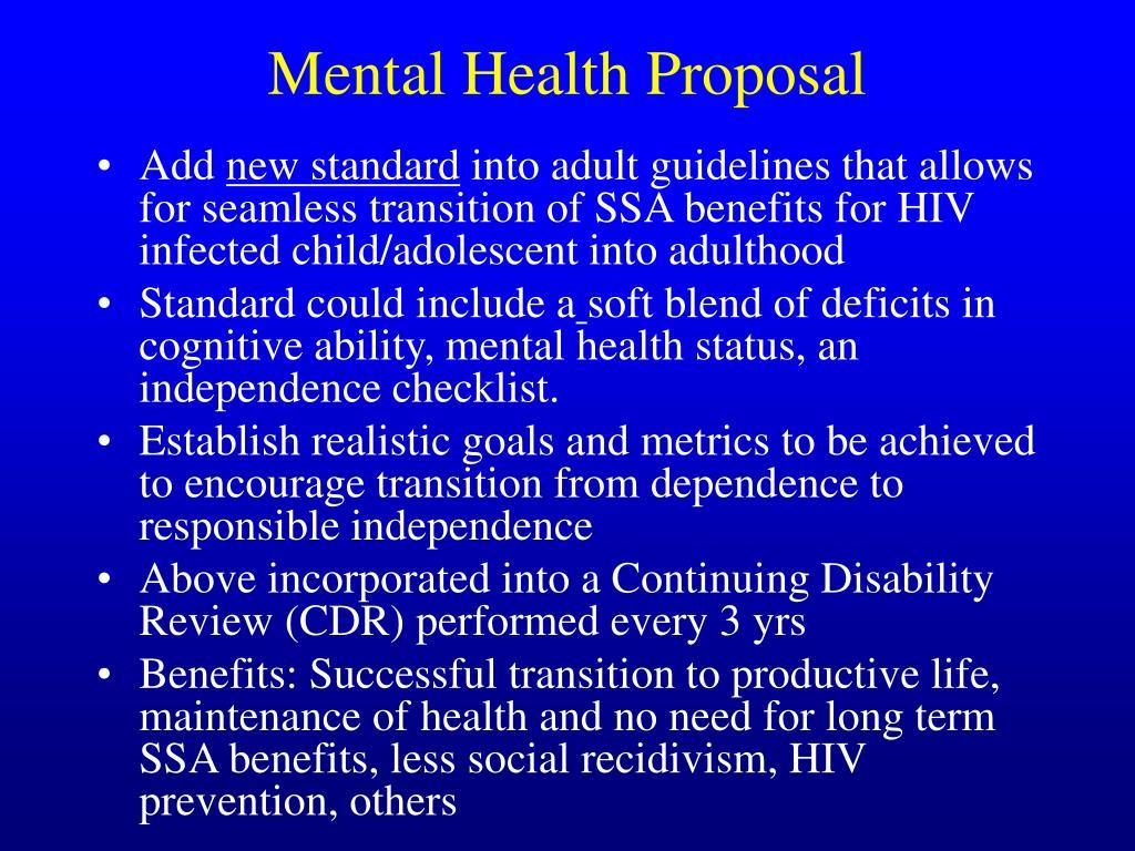 Mental Health Proposal