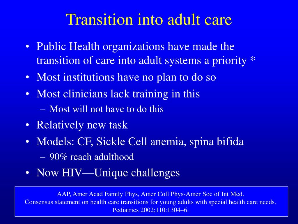 Transition into adult care