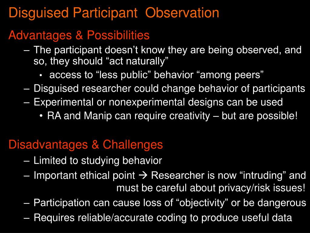 Disguised Participant  Observation