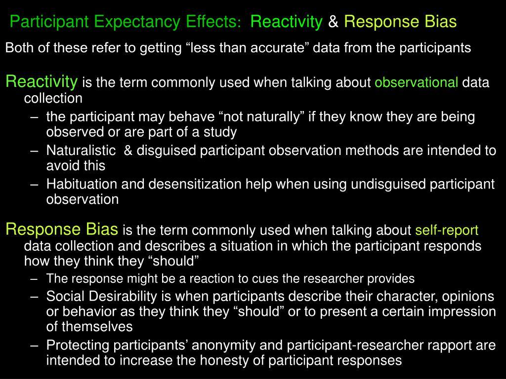 Participant Expectancy Effects