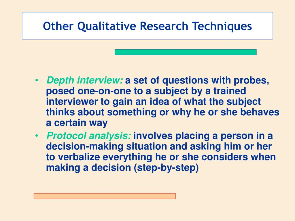 Other Qualitative Research Techniques