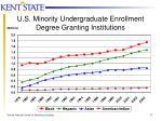 u s minority undergraduate enrollment degree granting institutions