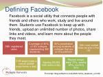 defining facebook