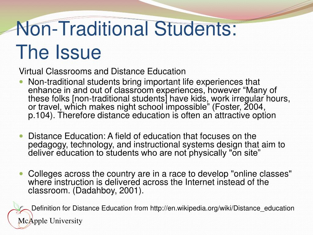 Non-Traditional Students: