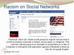 racism on social networks