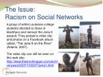 the issue racism on social networks