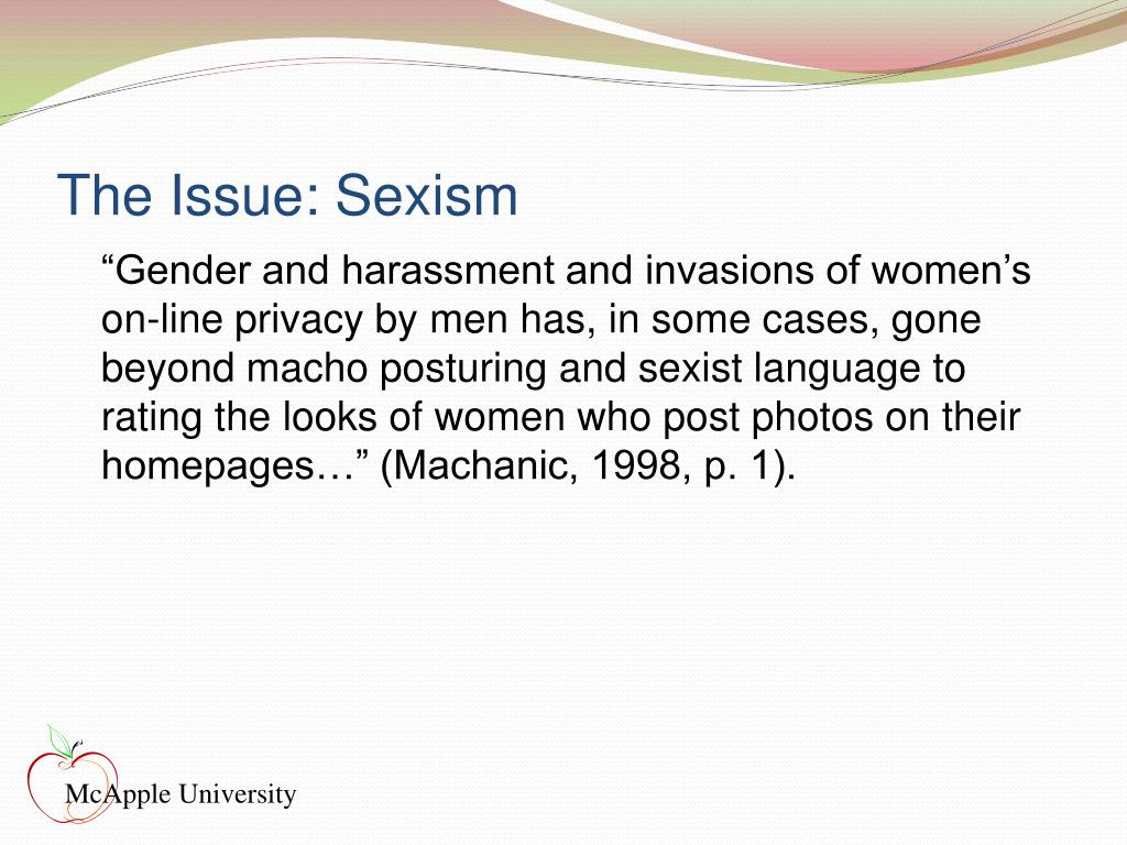 The Issue: Sexism