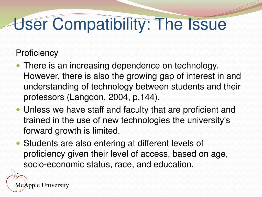 User Compatibility: The Issue