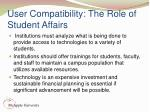 user compatibility the role of student affairs