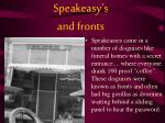 speakeasy s and fronts