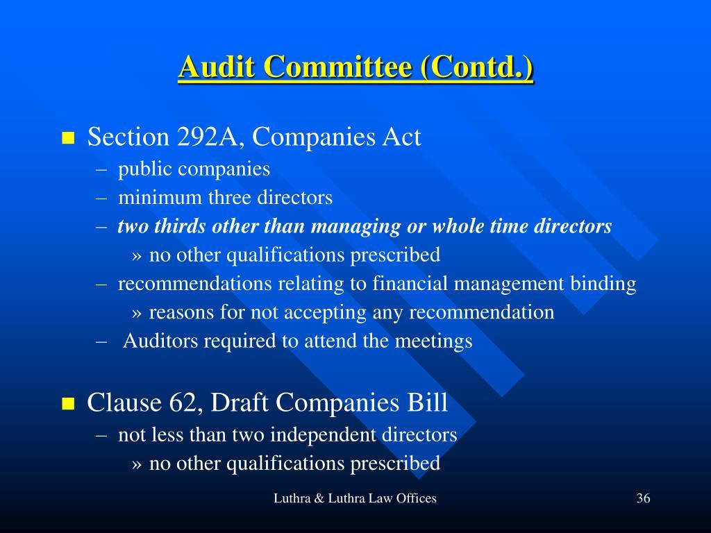 Audit Committee (Contd.)