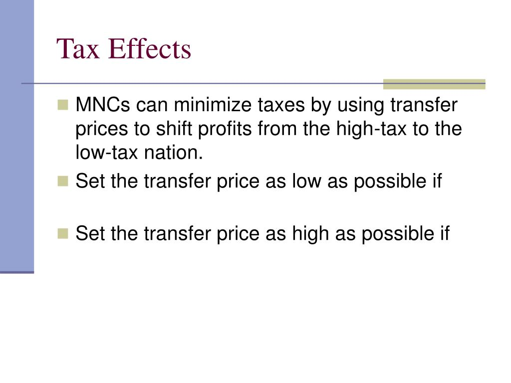 Tax Effects