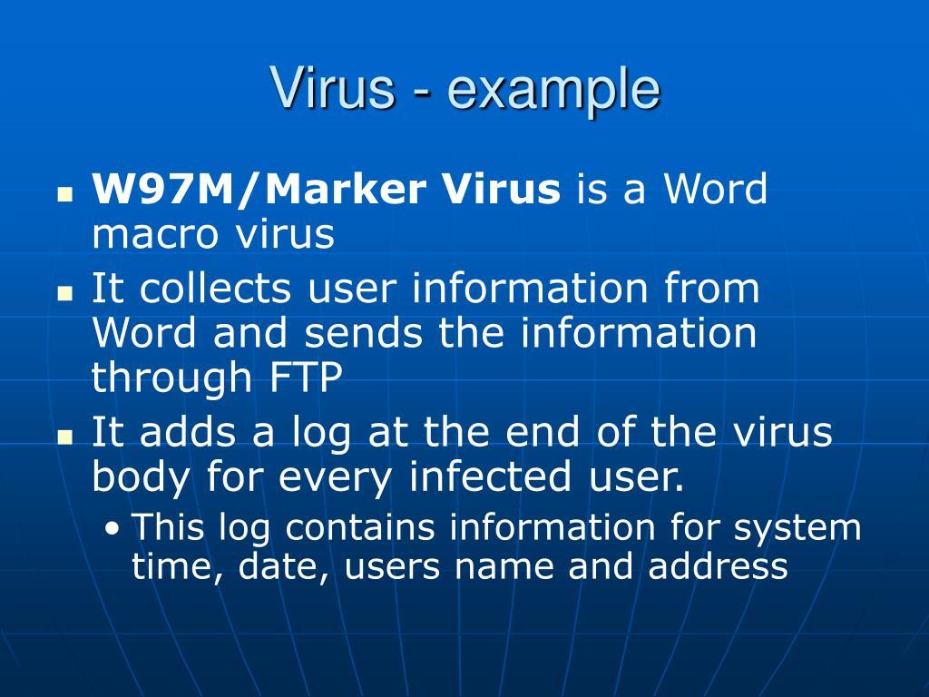Virus - example