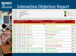 interactive objective report
