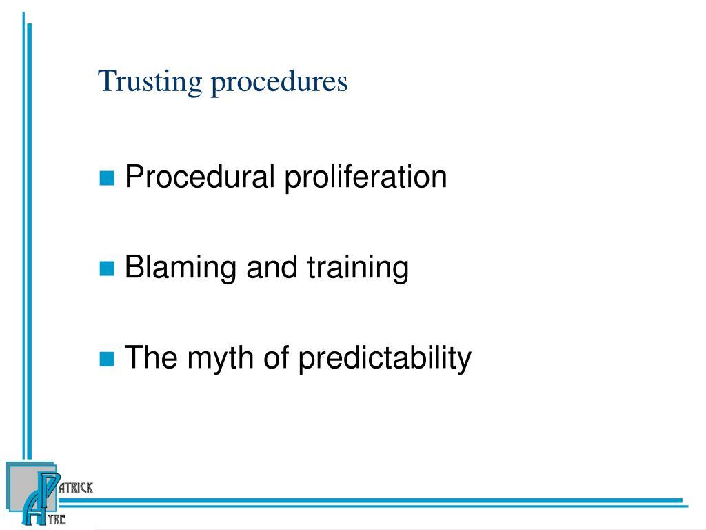 Trusting procedures