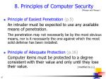 8 principles of computer security pfleeger and pfleeger