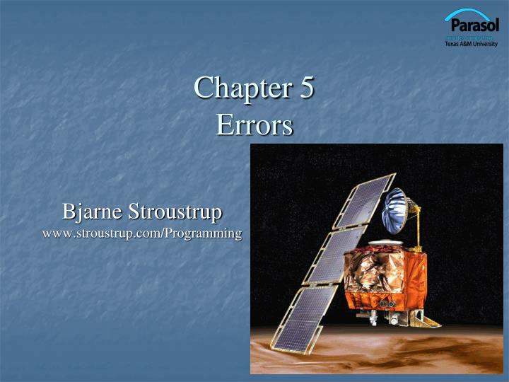 Chapter 5 errors