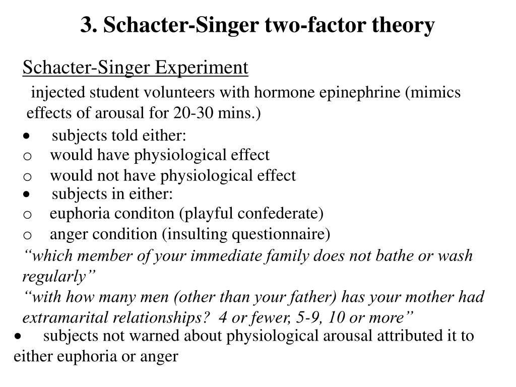 3. Schacter-Singer two-factor theory