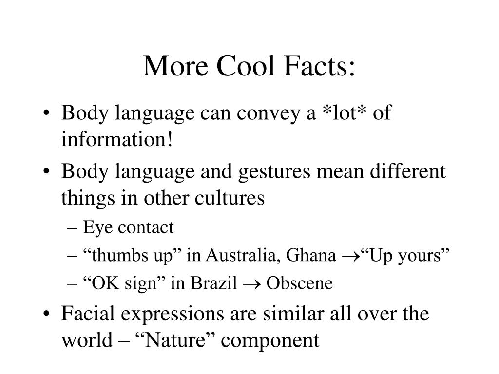 More Cool Facts: