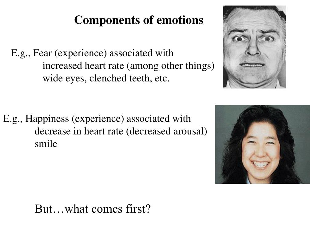 Components of emotions