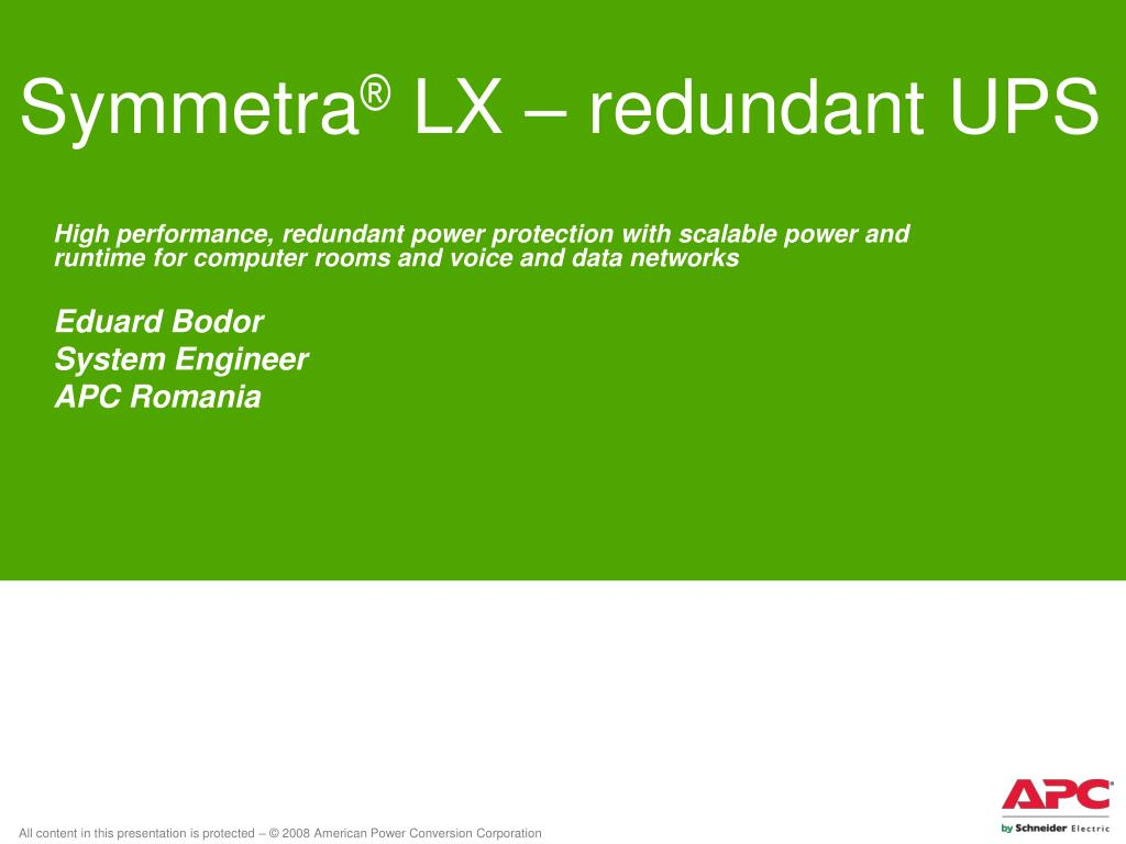 symmetra lx redundant ups l.
