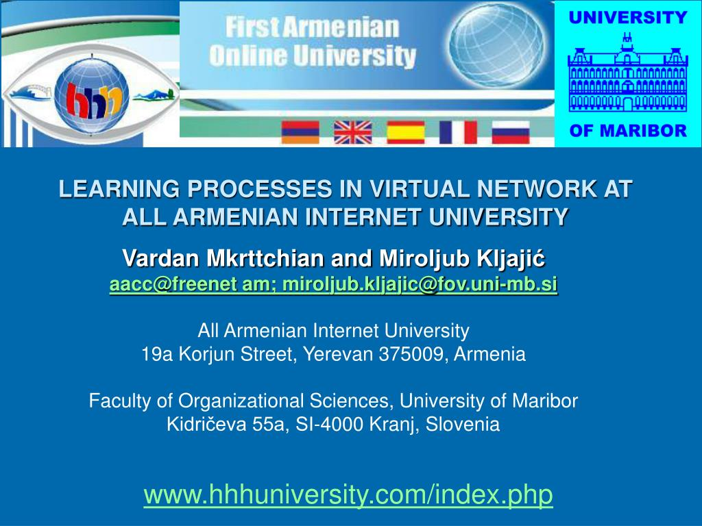 learning processes in virtual network at all armenian internet university l.
